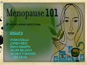 Group 9: Menopause