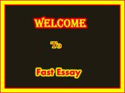 FastEssay - Proffesional Essay Writing Service Provider