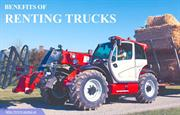 What are the benefits of renting trucks