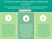 TYPES OF SEMI PERMANENT EYEBROW MAKEUP
