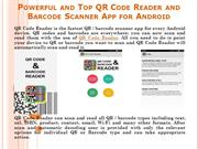 Powerful and Top QR Code Reader and Barcode Scanner App for Android