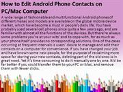 How to Edit Android Phone Contacts on PC and Mac Computer