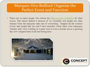 Marquee Hire Bedford Organise the Perfect Event and Function