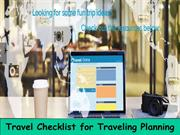 Travel Checklist for Traveling Planning