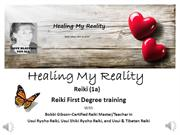Reiki 1A  Introduction