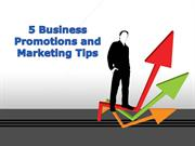 Sean Michael Madelmayer - Top 5 Business Promotions and Marketing Tips