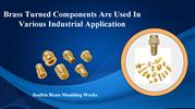 Material and Threads of Brass Turned Components
