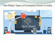 Two Major Types of Company Forms in India