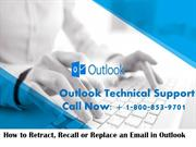 How to Recall or Replace An Email That You Sent in Outlook?