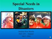 Montana Busche PAD 4391 Special Needs in Disasters