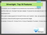 Silverlight : Top 10 Features 2016