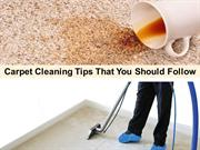 Carpet Cleaning Tips That You Should Follow
