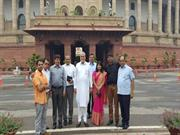 Today I took Oath as a Rajya Sabha M.P. at chamber of Chairman Rajya S