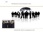 PHD Admission in Science Education in India
