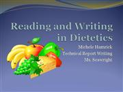 Reading and Writing in Dietetics