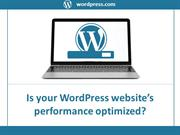 Is your WordPress website's performance optimized?