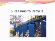 5 Reasons to Recycle