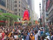 America's grand Rath Yatra of Lord Jagannath in the New York City scen