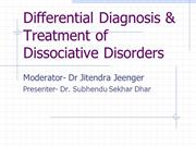 Differential Diagnosis & Treatment of Dissociative Disorders