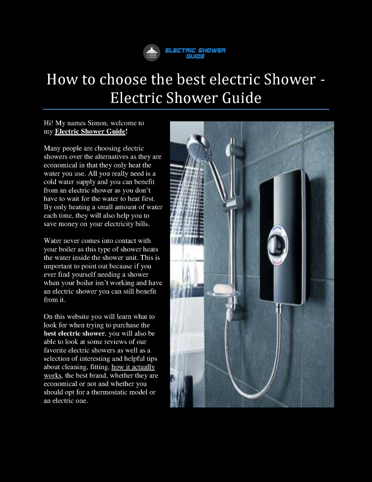 How to Choose the Best Electric Shower - Electric Shower Guide ...