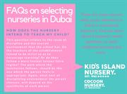 FAQ #4 on selecting nurseries in Dubai_7THJUL