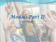 Chapter 13 Grammar Made Easy Modals Part