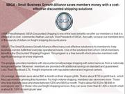 SBGA - Small Business Growth Alliance saves members money