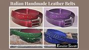 Luxury Italian Handmade Leather Belts for Men- Emillo Santo