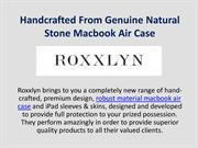 Handcrafted From Genuine Natural Stone Macbook Air Case