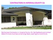 Contractors in Imperial County CA