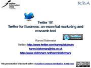 Twitter for Business [Archive]