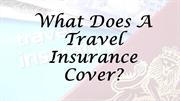 What Does A Travel Insurance Cover