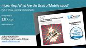 Mobile Learning: What Are the Uses of Mobile Apps - EI Design