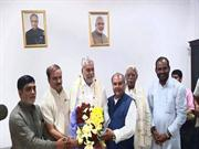 Union Minister of State for Panchayati Raj in Krishi Bhavan, New Delhi