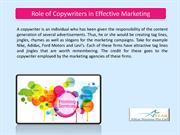 Role of Copywriters in Effective Marketing