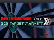 how to determine your b2b target market