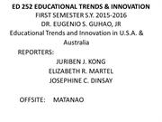 ED 252 EDUCATIONAL TRENDS & INNOVATION