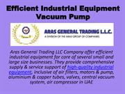 Efficient Industrial Equipment Vacuum Pump