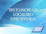 TIPS TO INCREASE LOCAL SEO EFFECTIVENESS