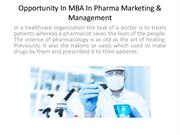Importanat Fact About MBA In Pharma Marketing & Management