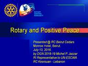 Rotary and Positive Peace_2016