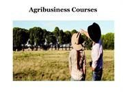 Diploma in Agribusiness – Agribusiness Courses
