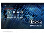 Indigo DQM Data Management System Presentation