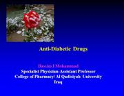 Anti-Diabetic Drugs1