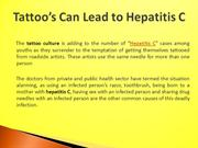 Tattoo Can Lead to Hepatitis C