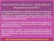 Universiti Utara Malaysia - Global Brand Magazine award