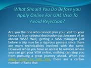What Should Do Before you Apply Online For UAE Visa To Avoid Rejec