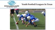 Youth Football Leagues In Texas
