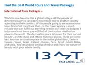 Find the Best World IBMT Tours and Travel Packages