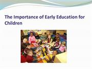 The Importance of Early Education for Children